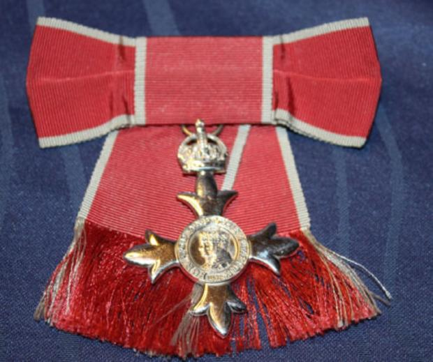 SOLD ON eBAY: Elizabeth Mills' MBE, which was auctioned for £149.