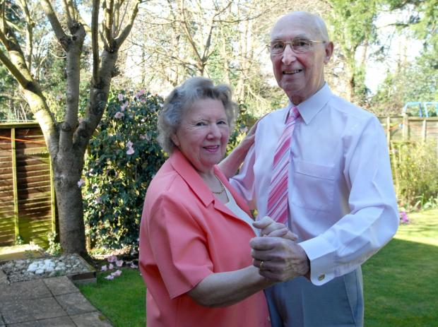 IN STEP: Jean and John Chamming celebrate their diamond anniversary.