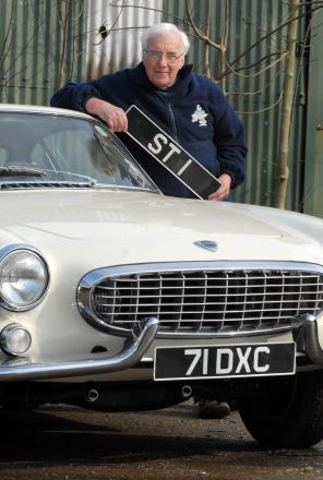 GOOD AS NEW: Kevin Price with the revamped Volvo that was featured in The Saint TV series.
