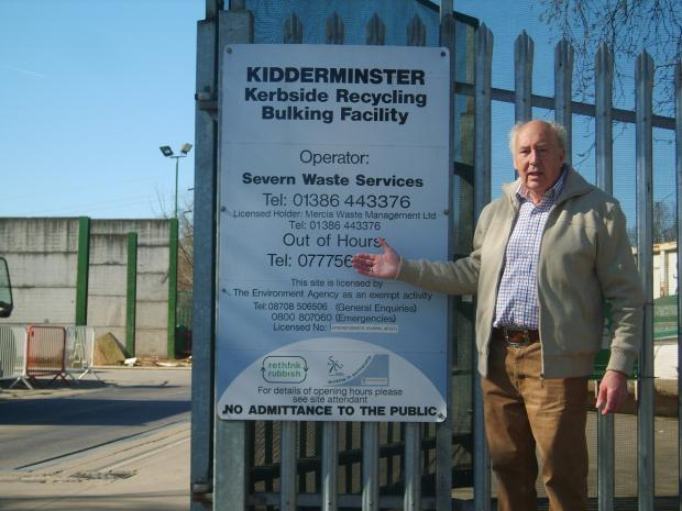 CLOSURE FEARS: John Aston at the Kidderminster recycling centre.