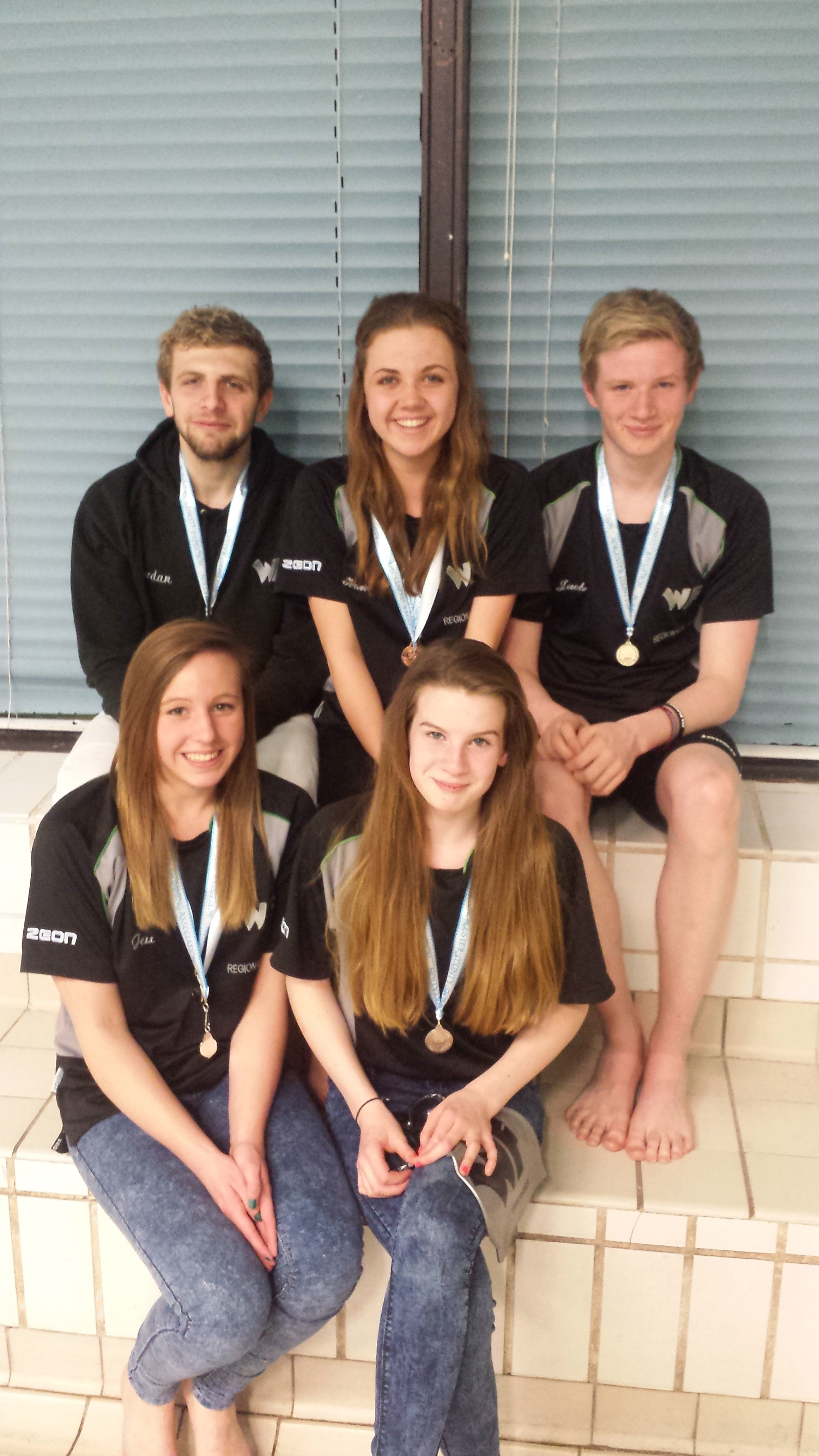 Jordan Chappell, Helena Shackleton, Jack Rowley, Jess Lewis and Abbie Rowley.