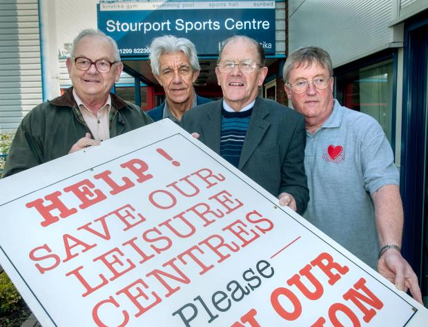 LAST-DITCH PLEA: Councillors Mike Salter, Cliff Brewer, Nigel Thomas and Jim Lawson. 141414MH.