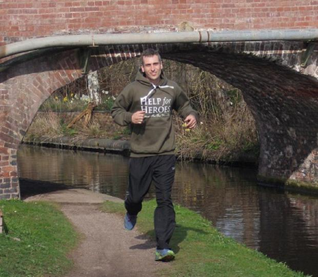 READY, SET: Chris Guidon trains for his marathon in aid of Help for Heroes. Picture: Matt Lee.