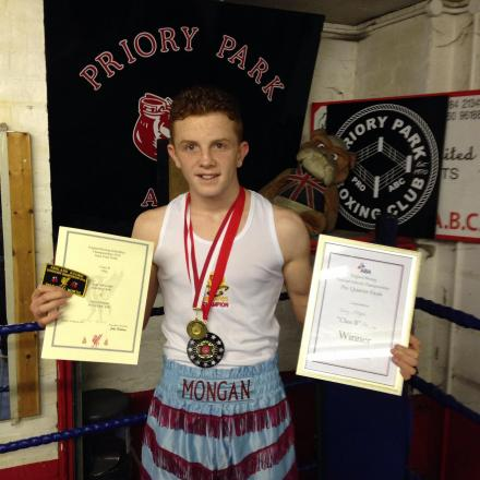 Glory awaits: Jerry Mongan will fight for the ABA National Schoolboytitle on Sunday.