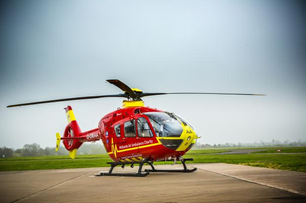 SAVING LIVES: Midlands Air Ambulance's new helicopter.