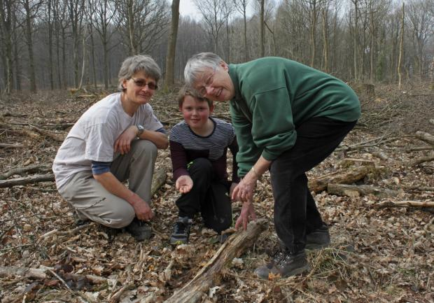 REEN FINGERS: Wyre Forest watch leaders Mary Bendall and Chris Doncaster, with Ben Rudlin, 9, who attends the Wyre Forest Watch.