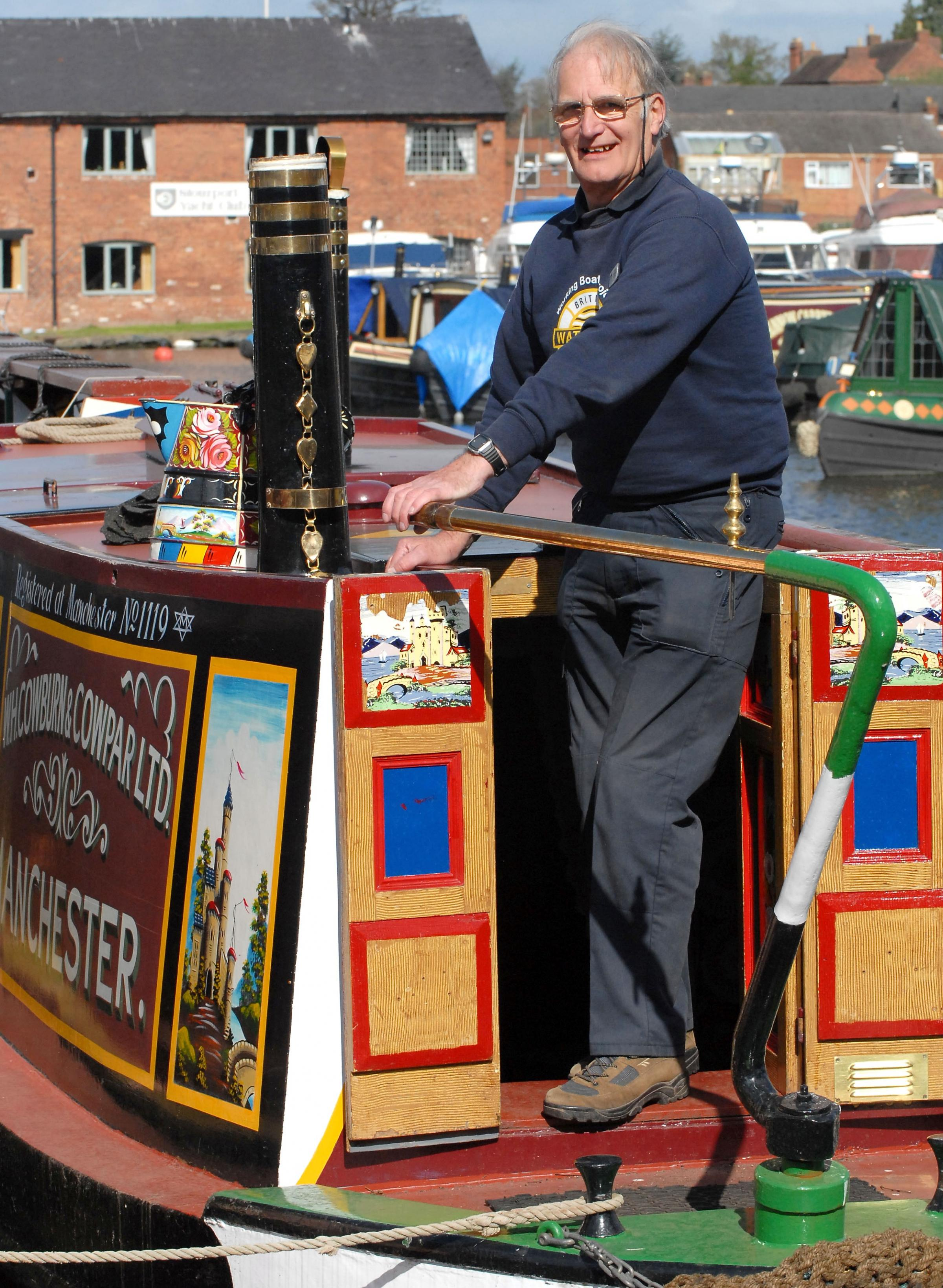 NEW SEASON: Vince Williams of the Canal and River Trust heritage working boats group prepares for the weekend's events.