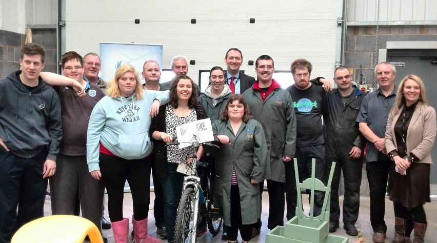 VALUABLE SUPPORT: Wyre Forest District Council employees visited the Emily Jordan Foundation's base during an open day.