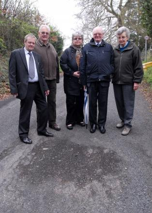 SERIOUS CONCERN: From left, Mayor of Stourport Ken Henderson, residents Ian Gwilliam, Jill Pagett and Michael Merriman with councillor Maureen Mason.