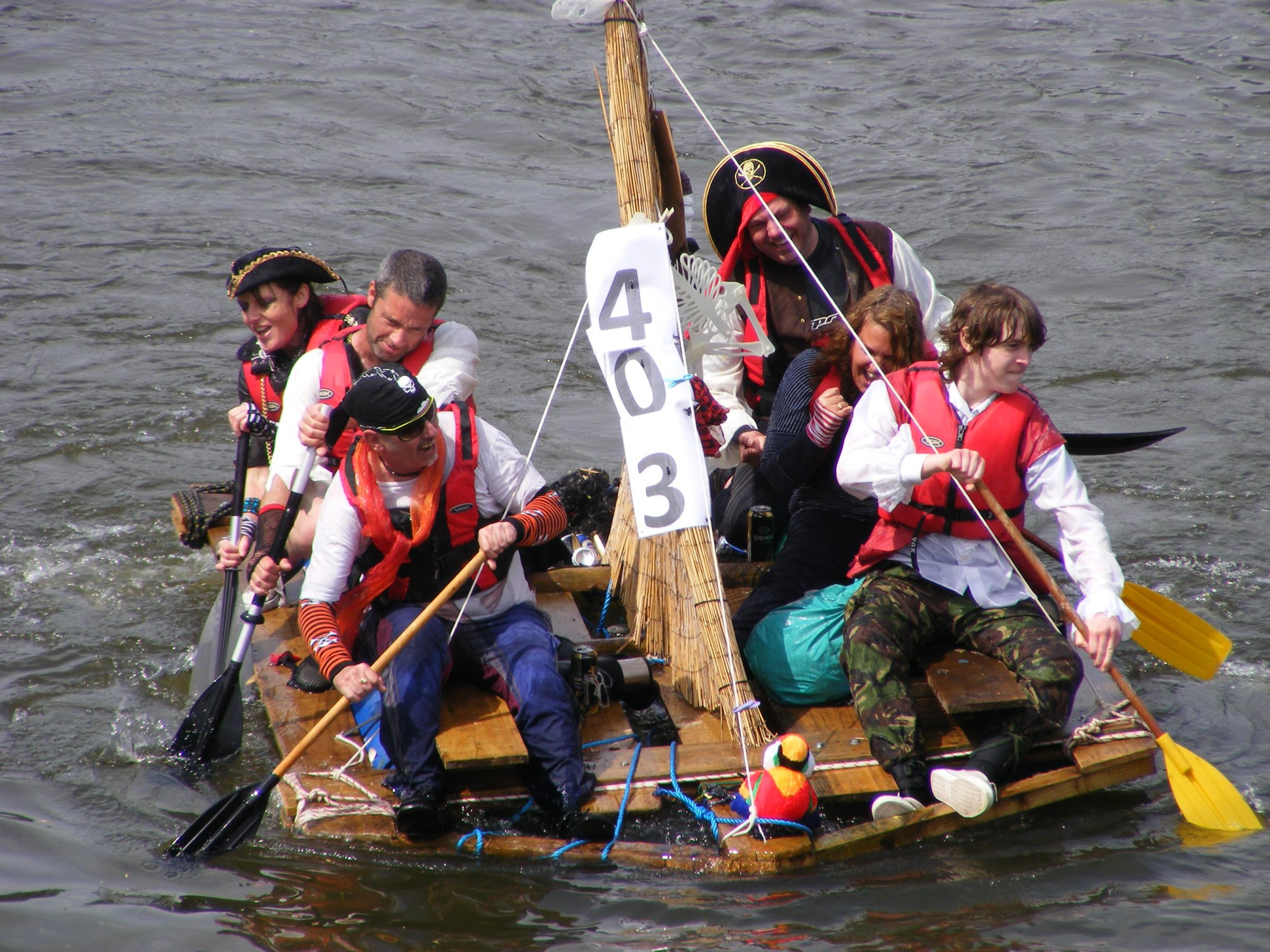 Teams take to the water for annual Lions raft race
