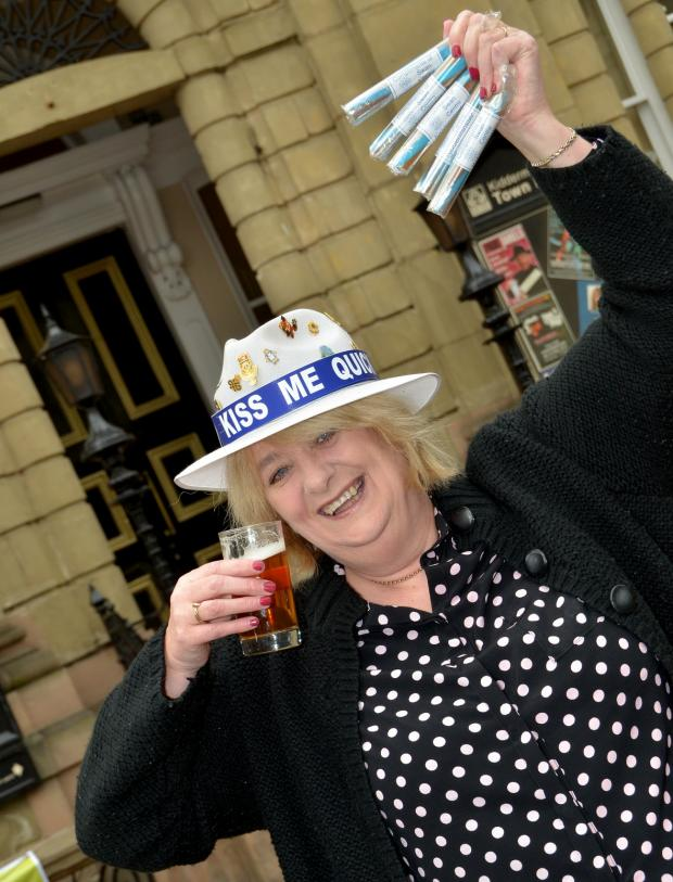 Kidderminster Shuttle: BOTTOMS UP: Swan Centre Manager Ros Darby. Photo COLIN HILL.
