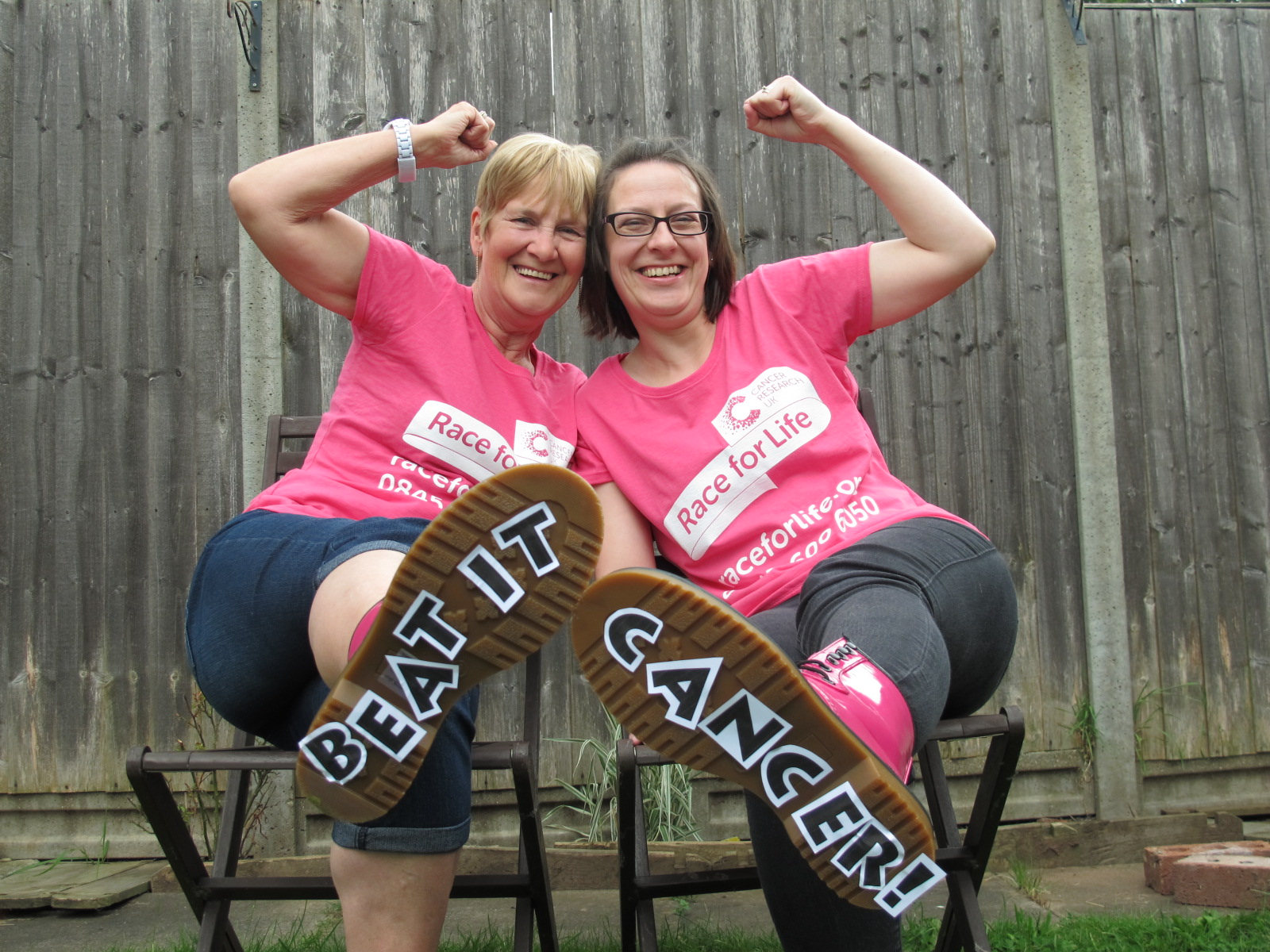 KICKING CANCER: Rachael Hodgetts, right, with her mother Christine Bratt.
