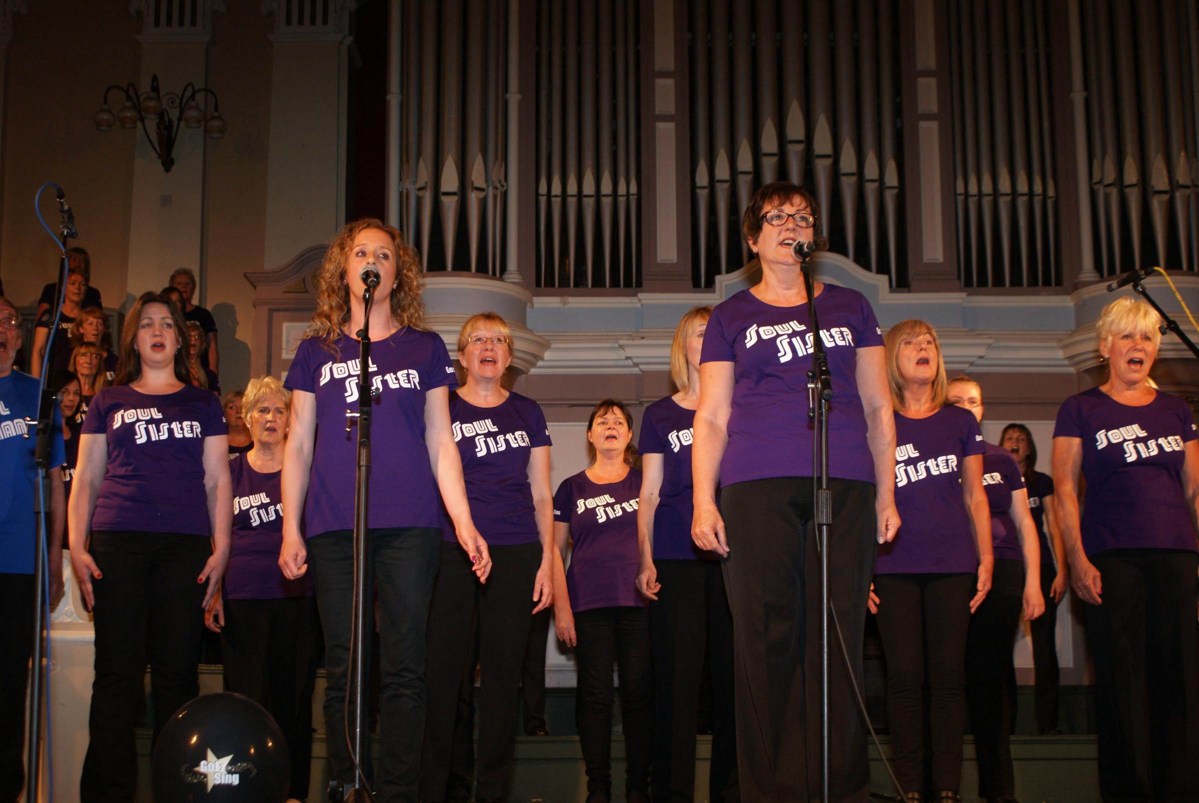 IN TUNE: Got 2 Sing belted out some soul numbers to raise money for the charity, Kemp Hospice