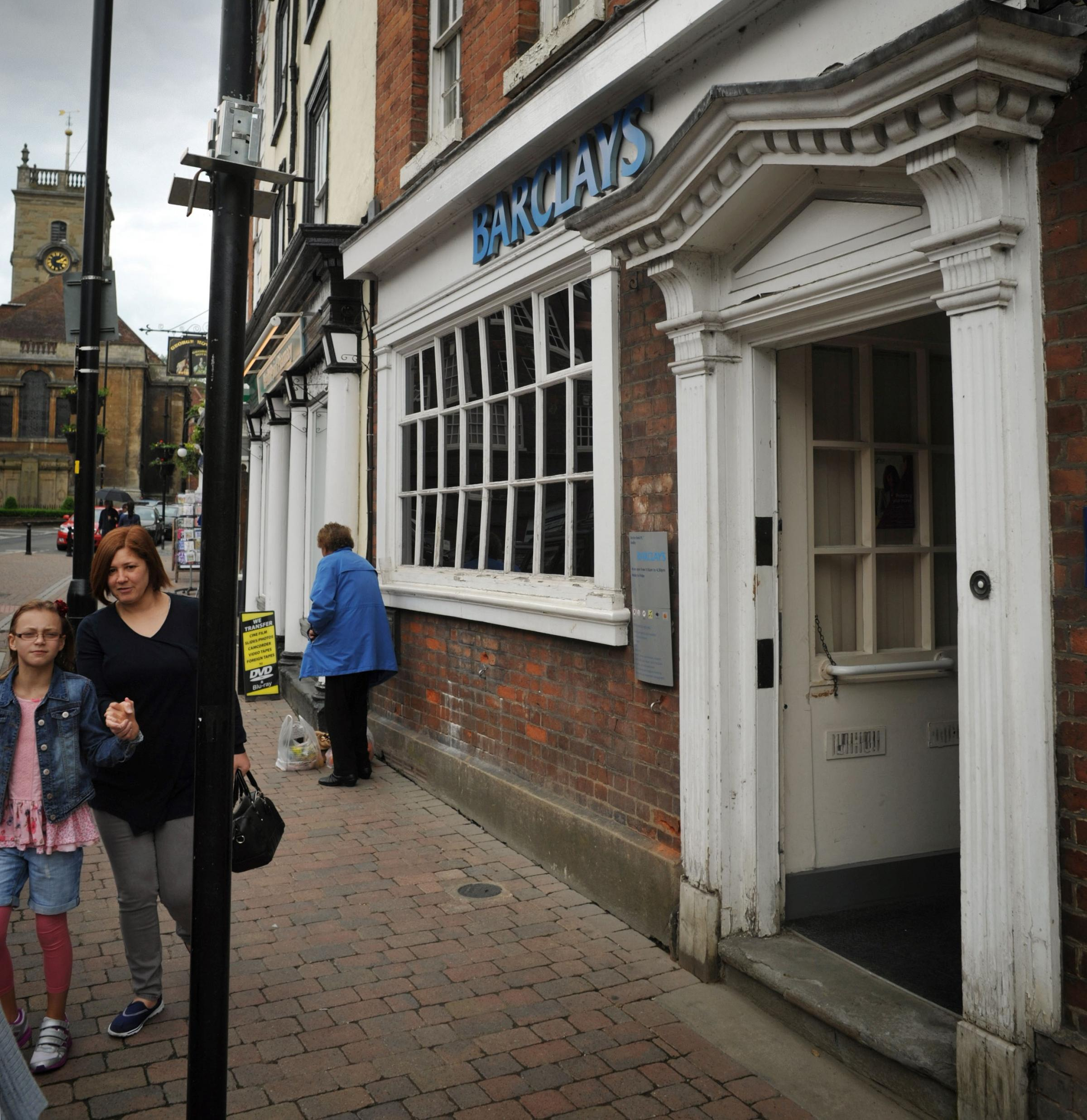 SHUTTING SHOP: Barclays bank in Load Street, Bewdley, will shut in August. Picture: Phil Loach. 221422L.