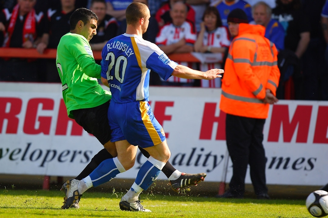 Jasbir Singh in action for Harriers during his last spell at the club.