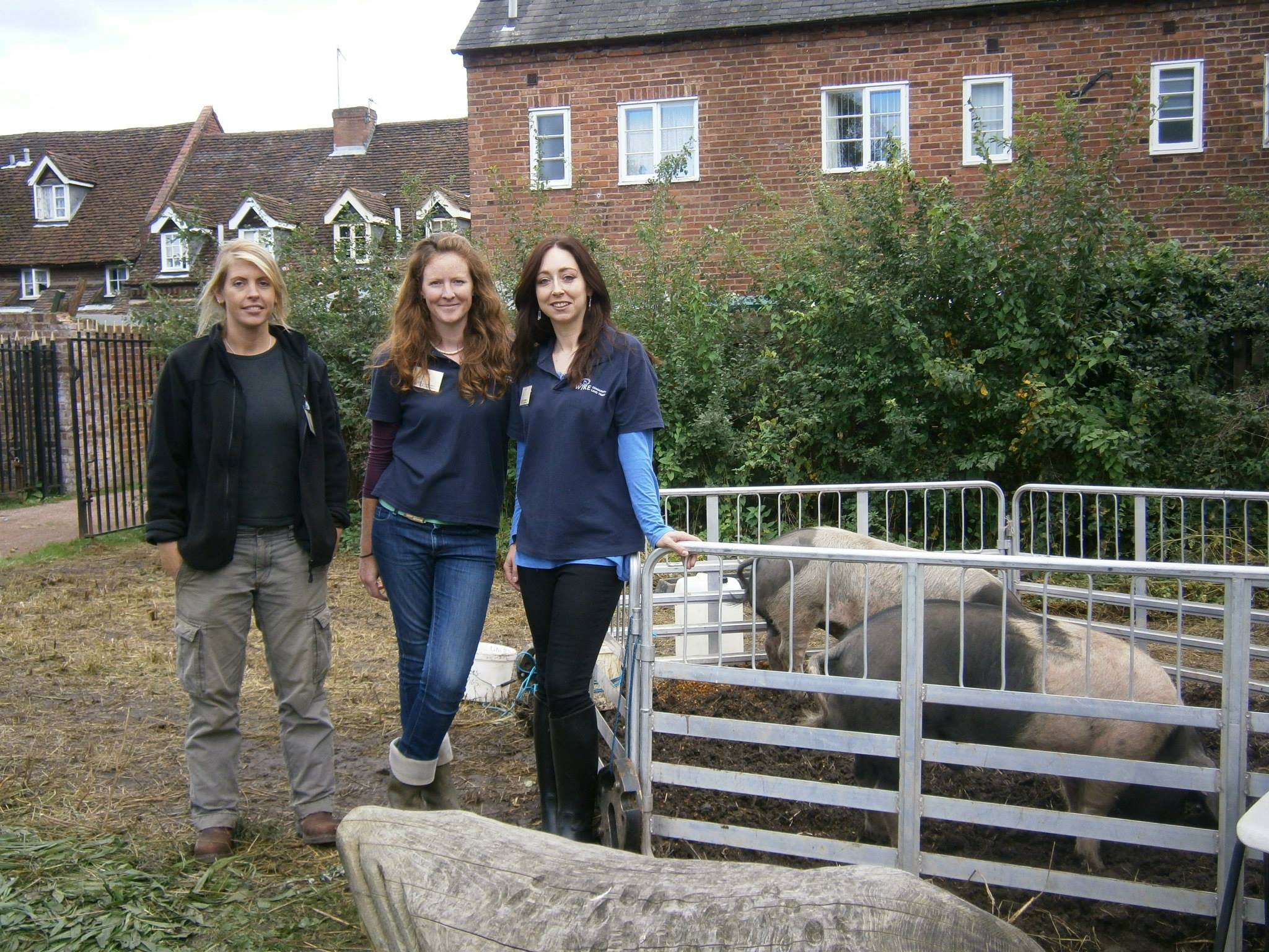 FARM HANDS: From left, Essie Beer-Pearce, apprentice, Sally Pendergast and Jo Grant are opening Uncllys Farm to the public.