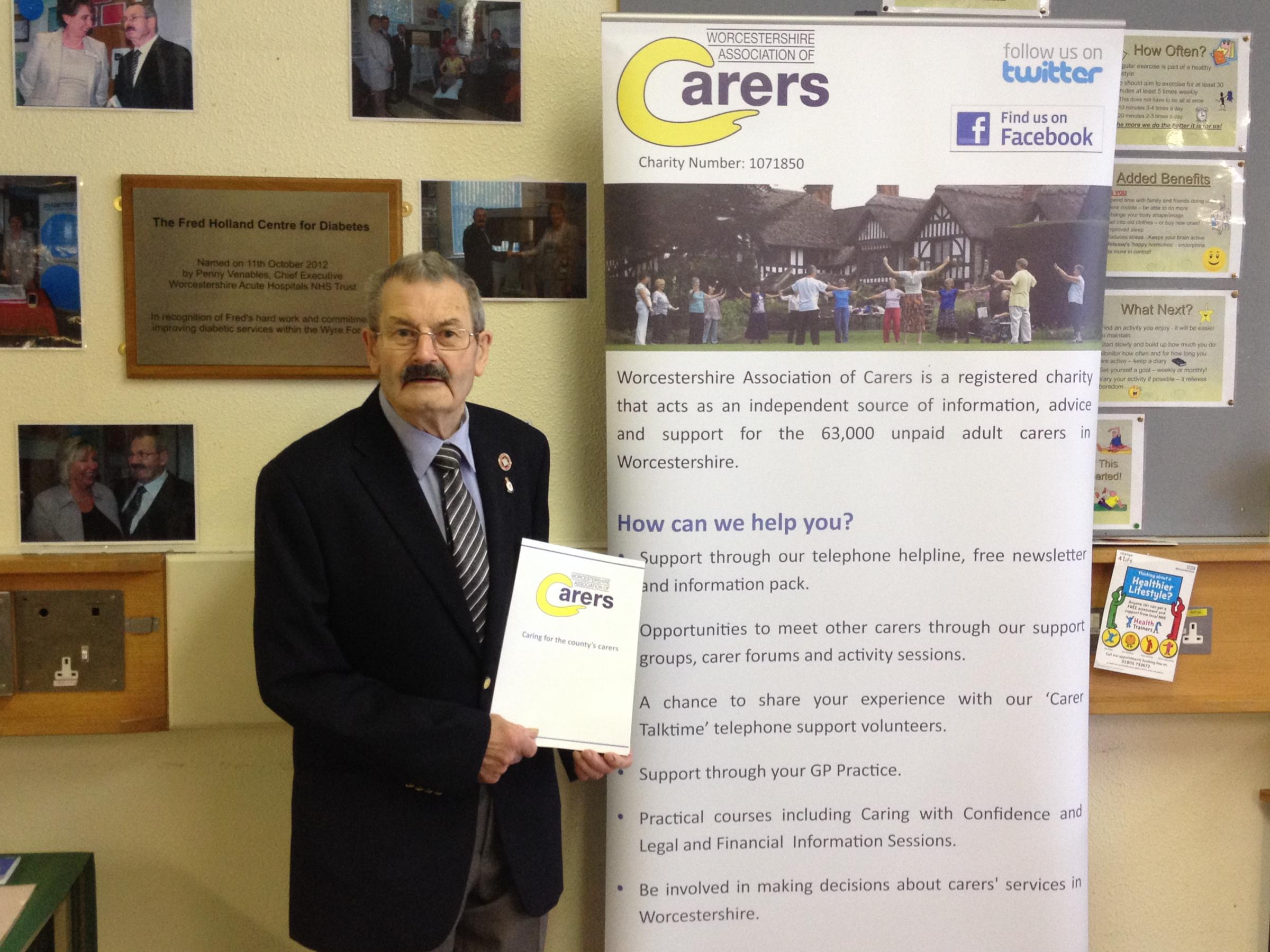 GIVING SUPPORT: Kidderminster carer Fred Holland gives his support to National Carers Week which runs from June 9 t