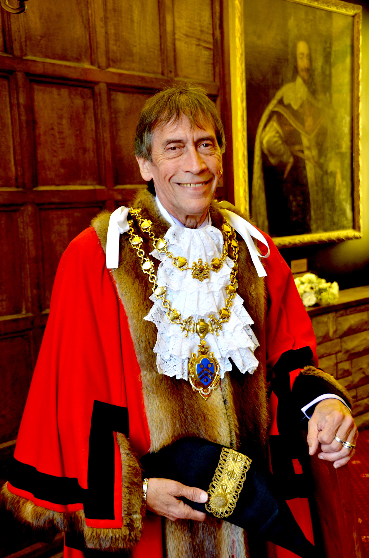 Councillor Mike Price appointed Kidderminster Mayor. Picture: Colin Hill.