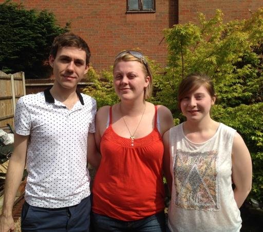 CHARITY BALL: From left, Josh Shaw, Charlotte Shaw and Sophie Vaughan aim to raise money for Cancer Research UK.