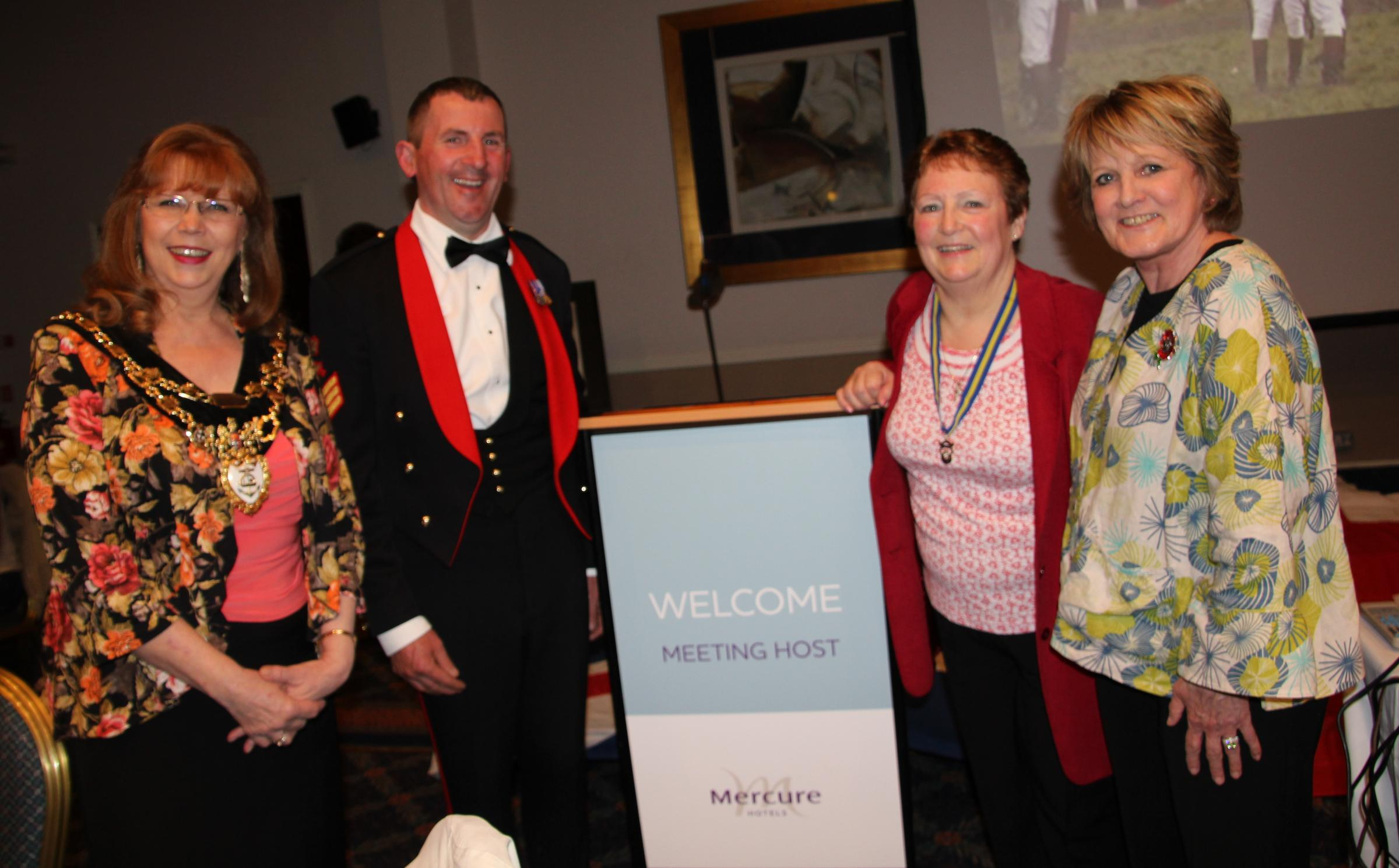 FUNDRAISING EVENTS: From left, former mayor of Bewdley, Linda Candlin, Charlie Lloyd, Jackie Taylor and Annie Cox.