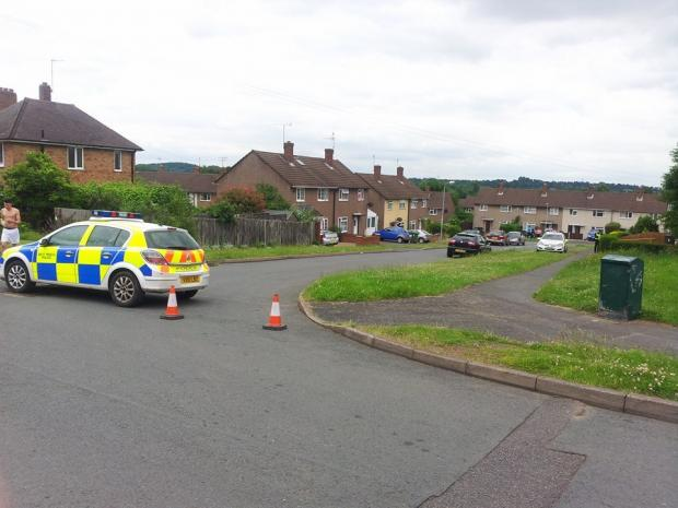 EXPLOSIVES FOUND: Police evacuated homes in Comberton, Kidderminster.