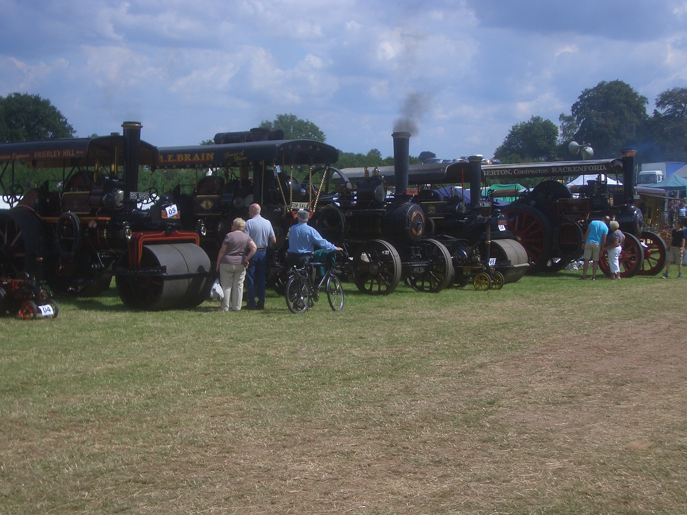 STEAM RALLY: A collection of the vehicles which featured at least year's event.