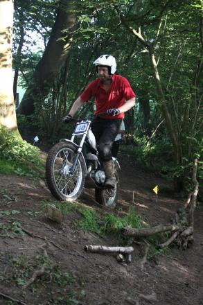 All-terrain: Steve Gollings tackles the course in Shatterford.