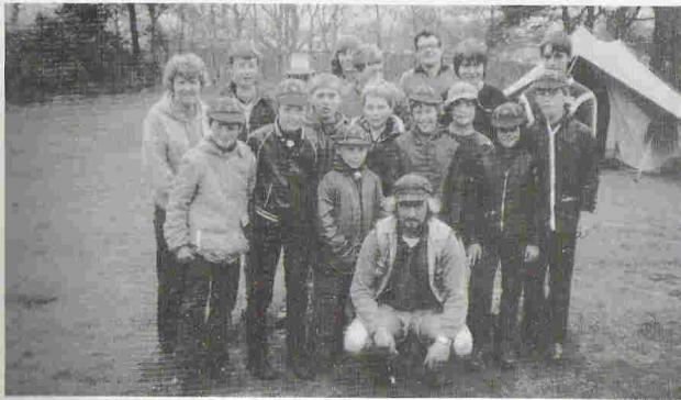 SCOUTING FOR BOYS: 6th Kidderminster Scout Group on a Whitsun camp at Rhydd Covert in 1983.