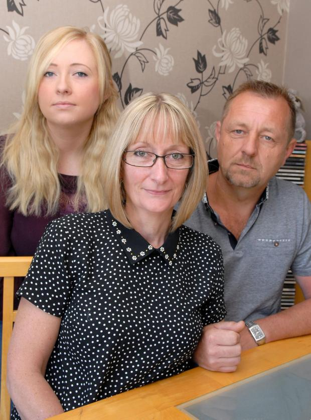 Kidderminster Shuttle: MOVING ON: The Carter family, from left, Sam, Jacqueline and Richard. Picture: MIriam Balfry. 261475M