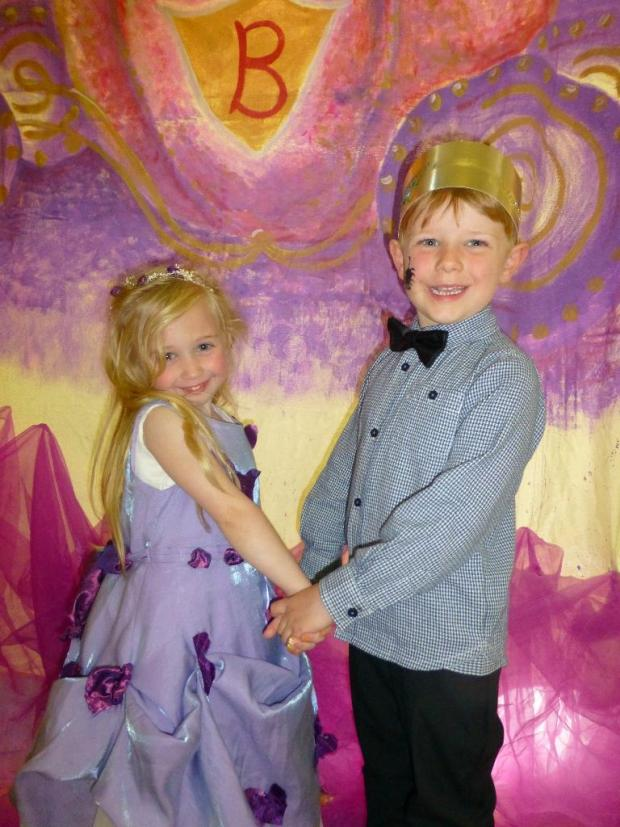 Kidderminster Shuttle: HAVING A BALL: Pupils Phoebe Stratford and Toby Smith, both 5, at Cinderella's ball.