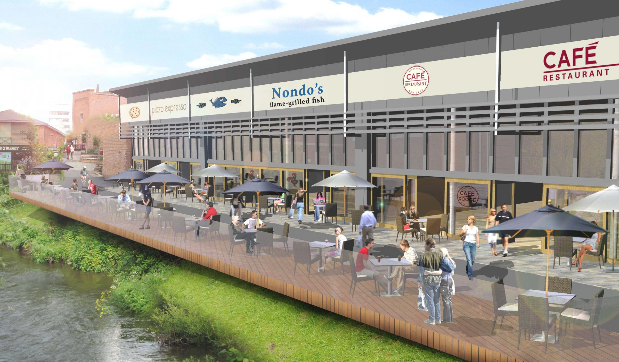 TOWN TRANSFORMATION: What the riverside could look like if plans are given the go-ahead.