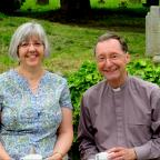Kidderminster Shuttle: RETIREMENT: Rev Stephen Owens, right, and his wife Lynne after his final service as vicar of the Wyre Forest West benefice.