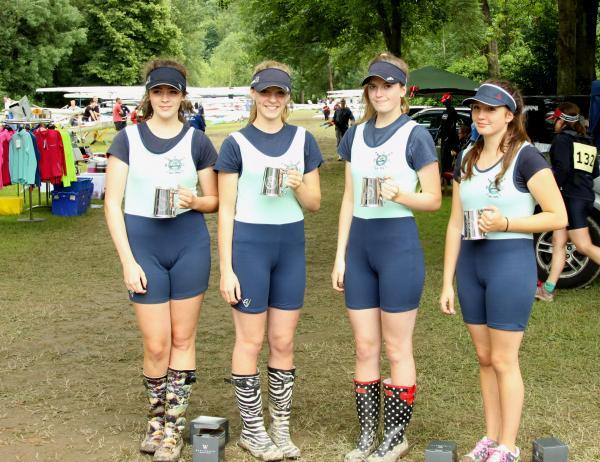 Awesome foursome: Ella Shepherd, Harriet Blackmore, Frankie Ward and Paris Dangerfield won senior and junior events at Ironbridge Regatta.
