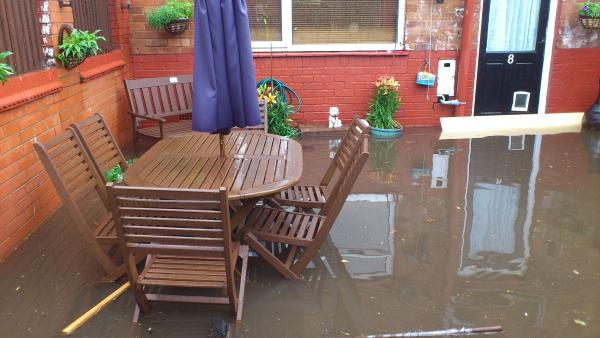 DAMAGE: Flood waters entered Mark and Elaine Fisher's Stourport home, damaging f