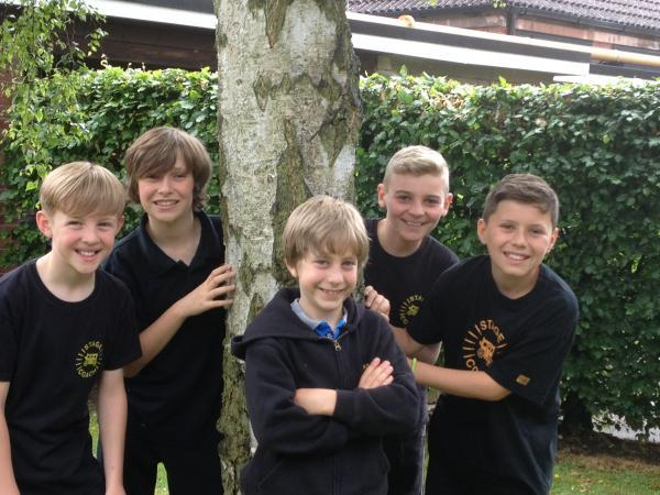 PLEASE, SIR: From left, Archie Middleton, Ollie Hart-Bradford, Jack Priestley, Ben Sidaway and Alex Cook will all take to the Wolverhampton Grand Theatre stage.