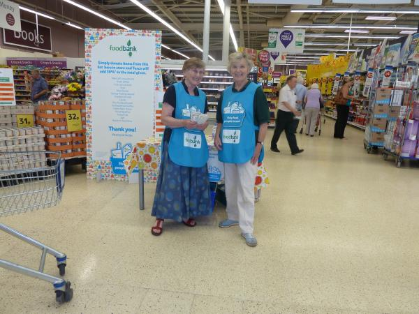PUBLIC DONATIONS: Kidderminster Foodbank collects food at local Tesco stores.
