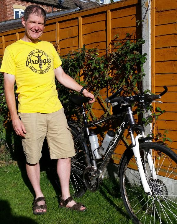 ON YOUR BIKE: Steven Cuthbertson is taking part in four challenges to raise money for Cancer Research UK.