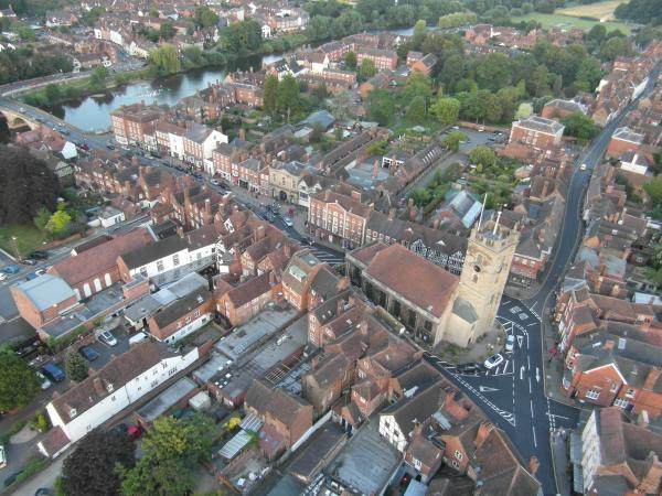 BIRD'S EYE VIEW: A photograph of Bewdley from a hot air balloon 500 feet above the town. Picture: DAVID BAREFORD