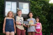 YOUNG FUNDRAISERS: School friends Edric, Orla, Hamish and Isla created and sold loom bands in support of Kemp Hospice.
