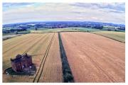 HIGH ABOVE: Neil Vanes used a drone to capture a bird's eye view of Cleobury Mortimer.