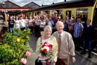 GOLDEN COUPLE: Laura and Martin Hobson welcomed 24 members of their family on a private journey along the Severn Valley Railway. Picture: Colin Hill