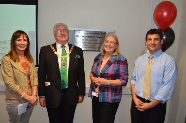 OFFICIAL LAUNCH: From left, Jean Templeton, Stephen Williams, Liz Eyre and Sam Pratley, managing director of WM Housing.