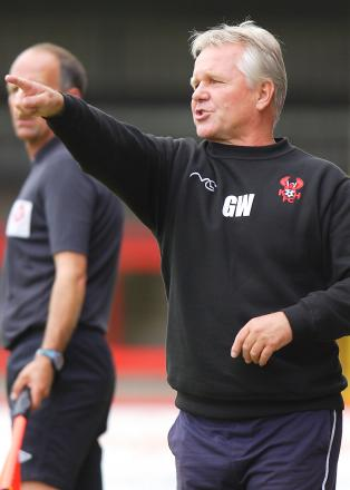 Harriers manager Gary Whild.