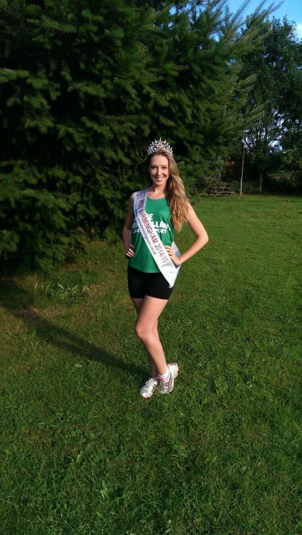 ROYAL RUN: Blakedown's Katie Stamps, current Miss Birmingham, will take part in the Big Fun Run to raise money for Macmillan.