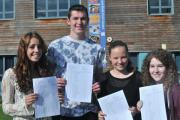 EXAM CELEBRATIONS: The Bewdley School pupils Josie Blakiston, Adam Jones, Bryony Haines and Jordanne Palmer.
