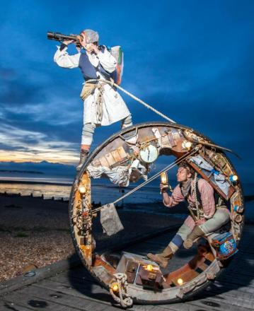 FREE DISPLAY: Acrobatic group Acrojou - The Wheelhouse, are taking part in the final weekend of Kidderminster Arts Festival. Picture: Steve Edwin