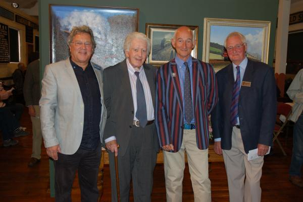 ART EXHIBITION: From left, John Austin, deputy president, Roy Wilson, president, Dr Paul Atterbury, patron and Frank Hodges, CEO, of the Guild of Railway Artists.