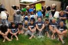 FREEZING FUNDRAISERS: Staff and volunteers at Kemp Hospice complete the ice bucket challenge.