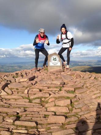DIRTY DOZEN: Martin Davies and Sian Powell after completing the twelfth ascent of Pen-Y-Fan.