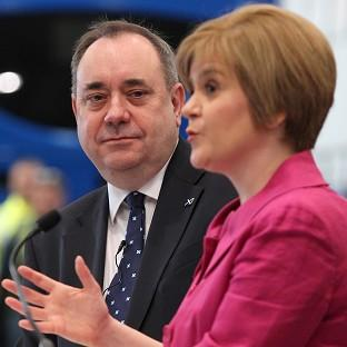 Nicola Sturgeon (right) says she is focusing on persua